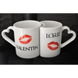 Double mug St Valentin