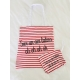 "Tote Bag + Trousse ""Sur un air latino"""