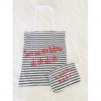TOTE BAG + TROUSSE : Sur un air latino