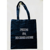 Tote bag J'peux pas on a des choses à se dire