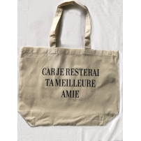 Tote bag CAR JE RESTERAI TA MEILLEURE AMIE + 5 articles collector inclus