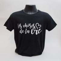 Tee-shirt Noir les choses de la vie